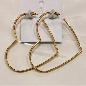 KATE SPADE heart shaped hoops